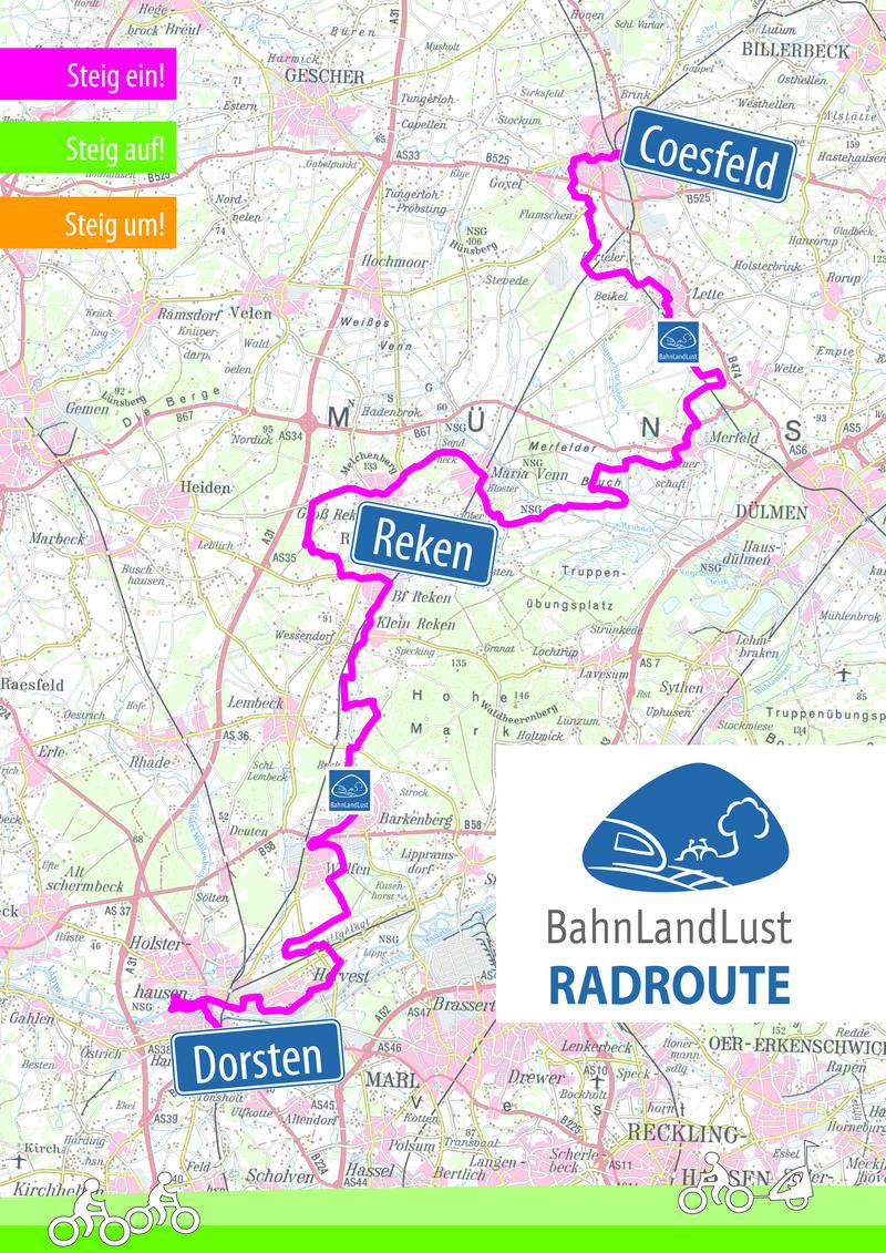 BahnLandLust Route Übersichtskarte