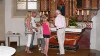 Ein Teil des historischen Rundgangs: Die Führung in der Alten Kirche